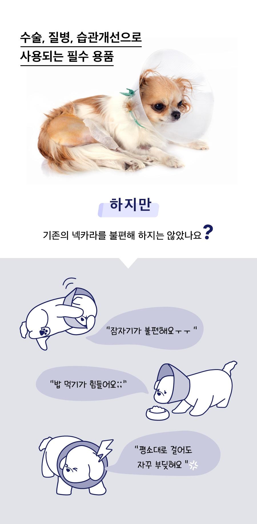 닥터설 각도조절 넥카라 (옐로우/블루/네이비)-상품이미지-2